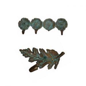 Cast Leaf & Flower Hooks