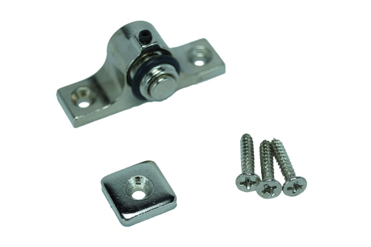 Magnetic Cabinet Catch, Nickel Finish