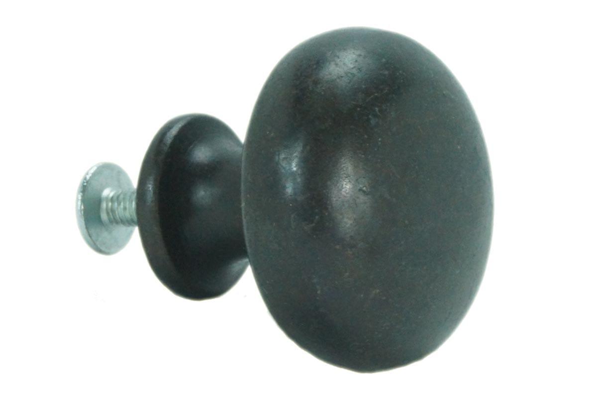 32mm Round Machined Back Knob (Faux Brass)