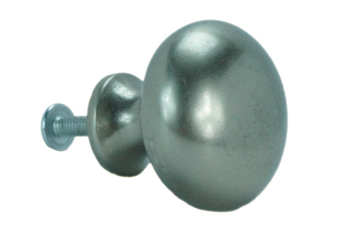 32mm Round Machined Back Knob (Satin)