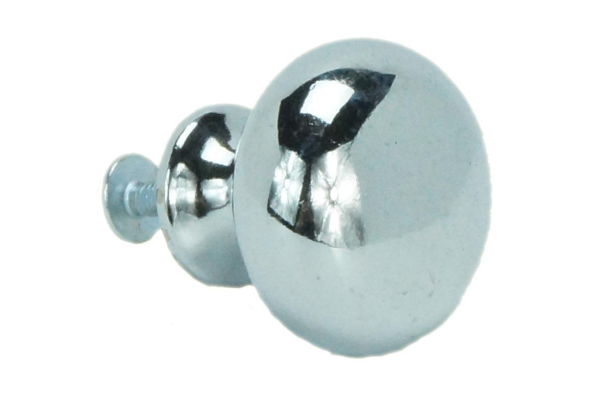 32mm Round Machined Back Knob (chrome)