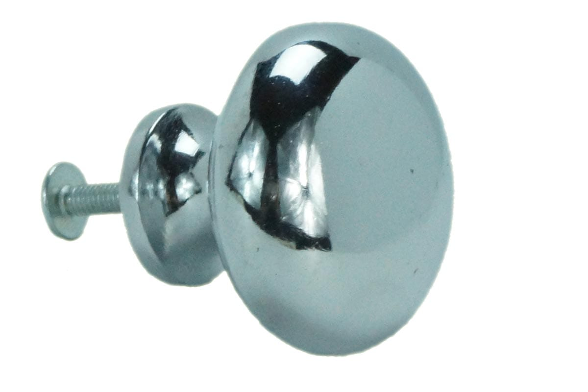 38mm Round Machined Back Knob (Chrome)