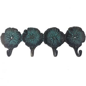 4 HOOK FLOWER IN VERDIGRIS FINISH