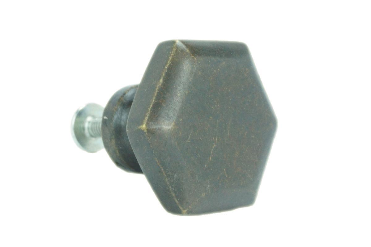 Large Hexagon Knob (Faux Brass)