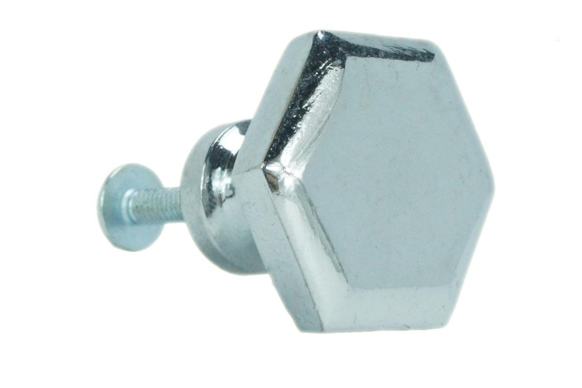 Large Hexagon Knob (Chrome)