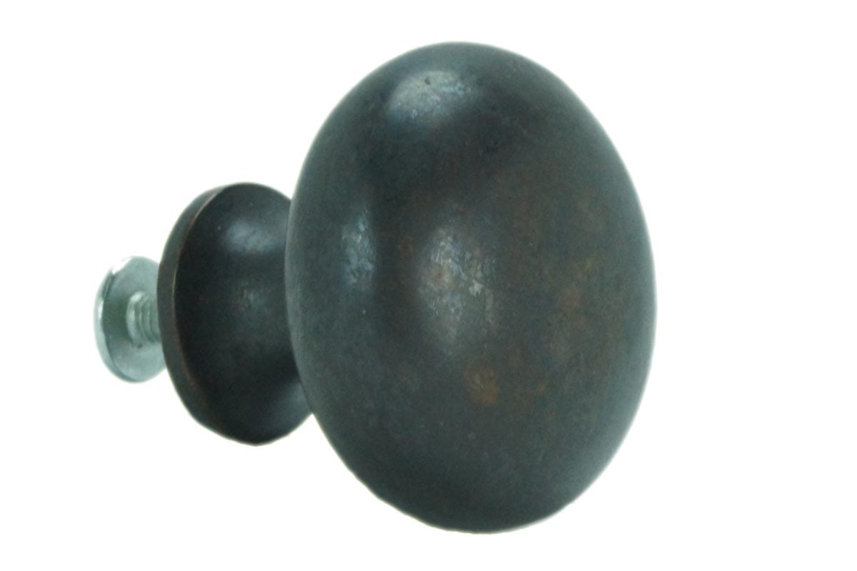 32mm Round Machined Back Knob (Faux Copper)