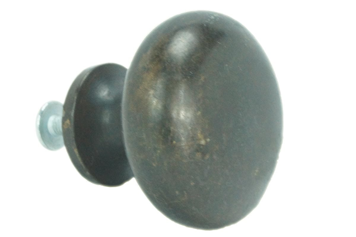 38mm Round Machined Back Knob (Faux Brass)