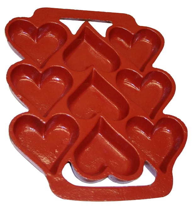 Heart Cookie Pan (Red Xylan)