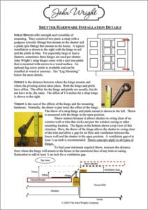 John Wright Shutter Installation Guide